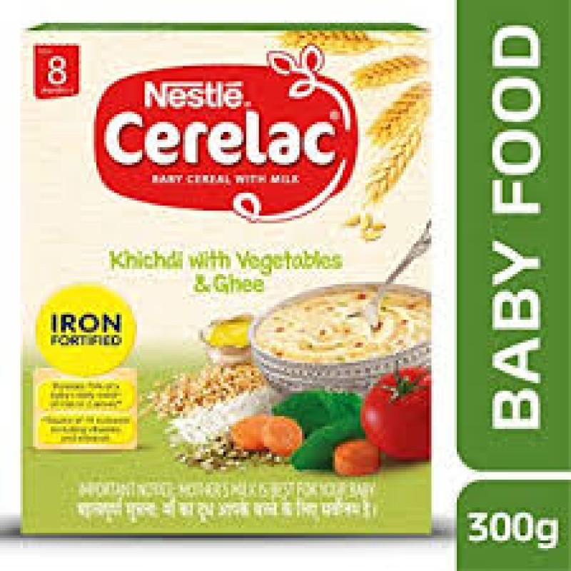 NESTLE CERELAC KHICHDI WITH VEGETABLES AND GHEE 300G