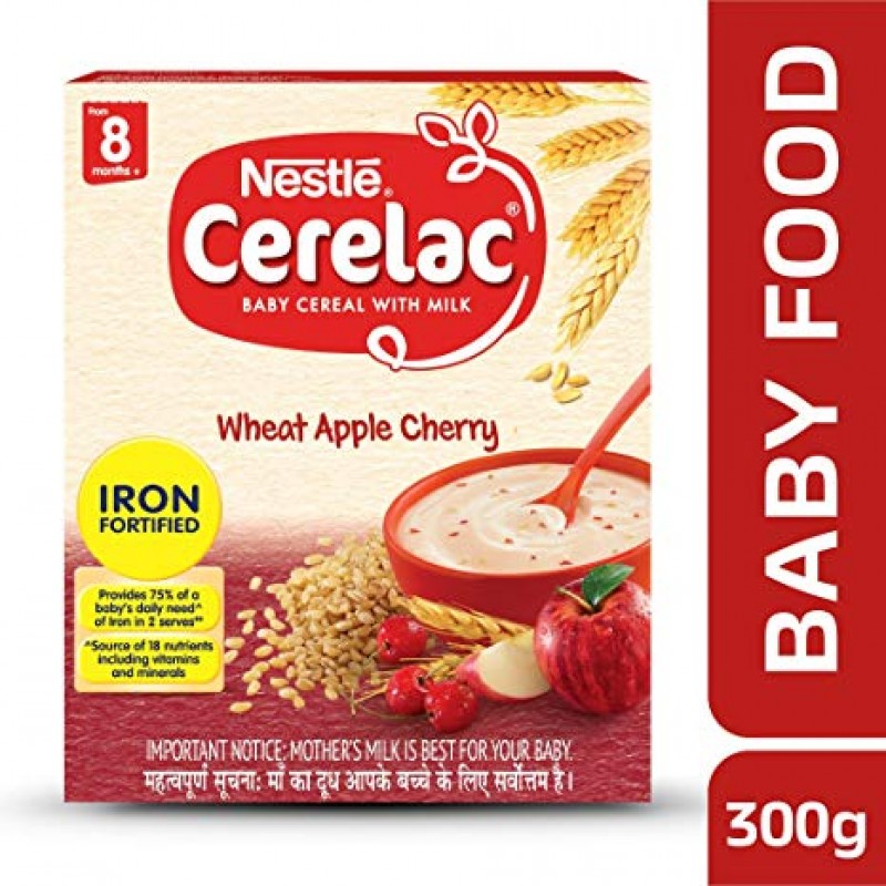 NESTLE CERELAC WHEAT APPLE CHERRY 300G