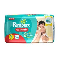 PAMPERS BABY DRY PANTS S 4-8KG 40 PANTS