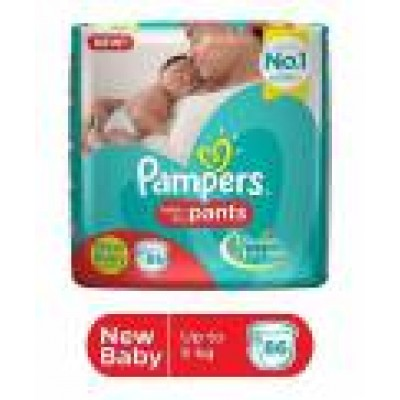 PAMPERS BABY DRY PANTS - NEW BABY - 86 PANTS