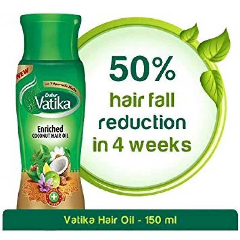 DABUR VATIKA ENRICHED COCONUT HAIR OIL 150ML