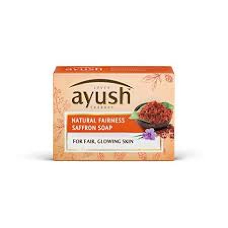 LEVER AYUSH NATURAL FAIRNESS SAFFRON SOAP 100G