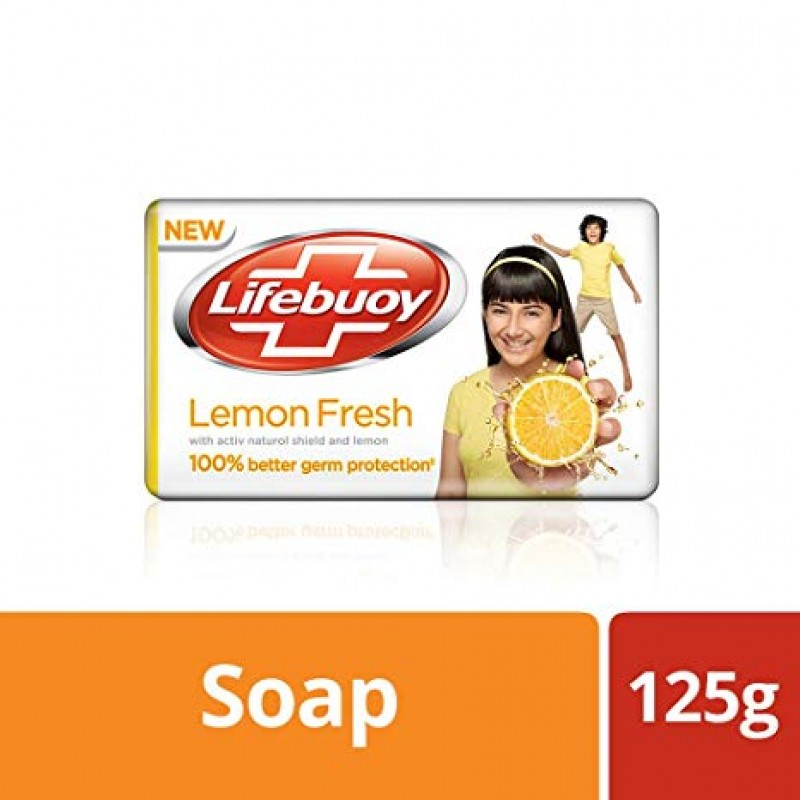 LIFEBUOY LEMON FRESH SILVER SHIELD FORMULA 125G