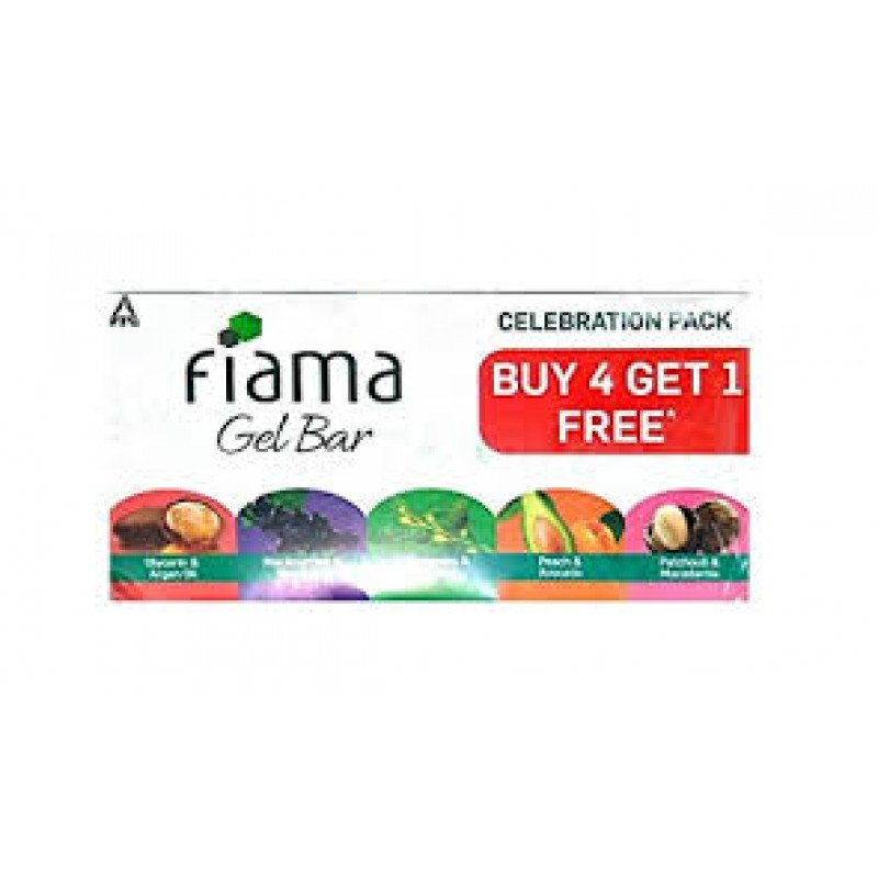 fIAMA GEL BAR CELEBRATION PACK BUY 4 GET 1 FREE 625G