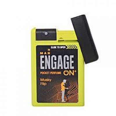 ENGAGE ON PLUS MUSKY FLIP POCKET PERFUME FOR MEN- 18ML