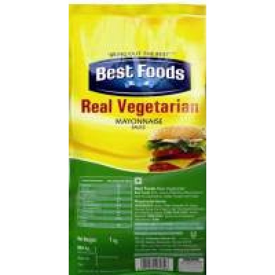 BEST FOODS REAL VEGETARIAN MAYONNAISE 1KG