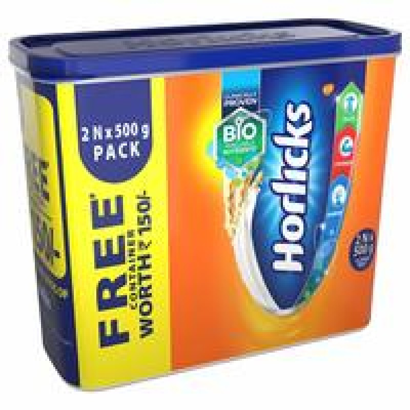 HORLICKS CLASSIC MALT 500G*2 WITH FREE CONTAINER
