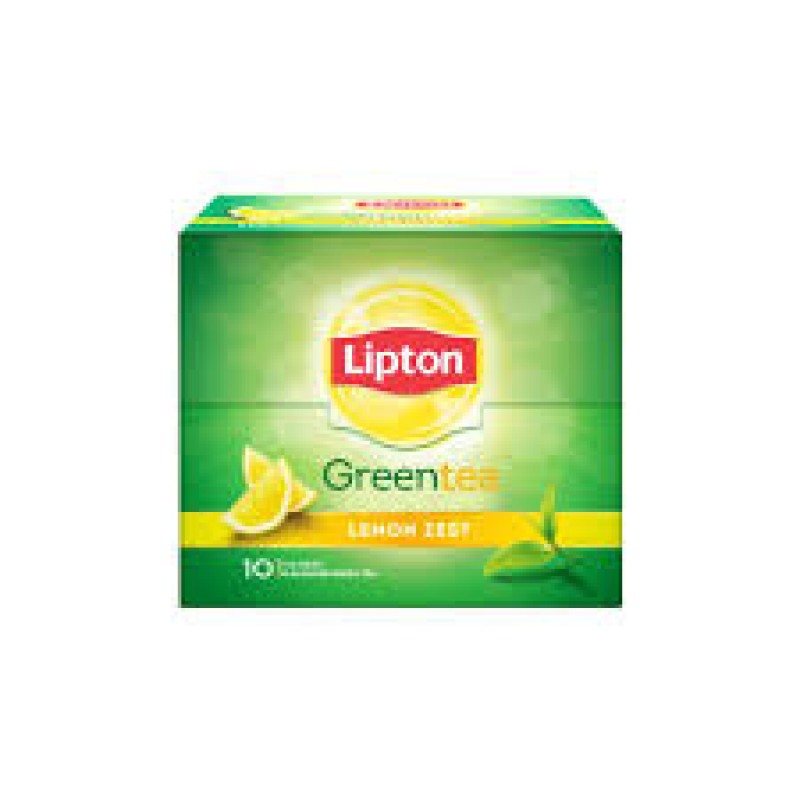 LIPTON GREEN TEA LEMON ZEST(10 TEA BAGS)