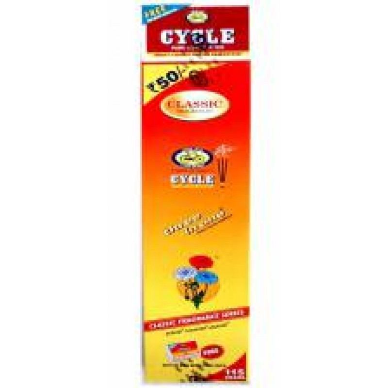 CYCLE 3 IN 1 PURE AGARBATHIES 115G + FREE MATCH BOX