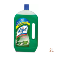 LIZOL DISINFECTANT SURFACE CLEANER  JASMINE 2L+LIZOL KITCHEN POWER CLEANER ORANGE  BURST 250ML