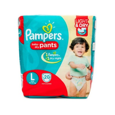 PAMPERS BABY DRY PANTS L 9-14KG 20 PANTS