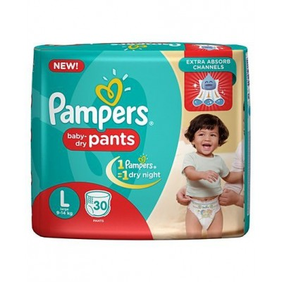 PAMPERS BABY DRY PANTS L 9-14KG 30 PANTS