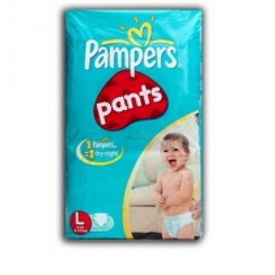 PAMPERS BABY DRY PANTS L 9-14KG 8 PANTS