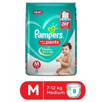 PAMPERS BABY DRY PANTS M 7-12KG 8 PANTS