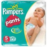 PAMPERS BABY DRY PANTS S 4-8KG 20 PANTS