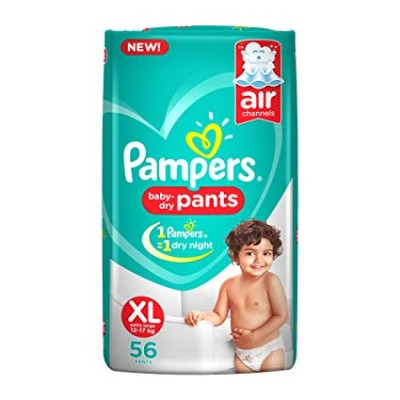 PAMPERS BABY DRY PANTS XL 12-17KG 56 PANTS