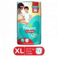 PAMPERS BABY DRY PANTS XL 12-17KG 7 PANTS