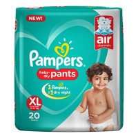PAMPERS BABY DRY PANTS XL 12-17KG 20 PANTS