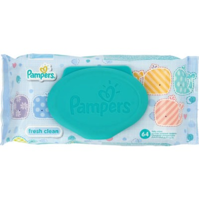 PAMPERS FRESH CLEAN 64 BABY WIPES