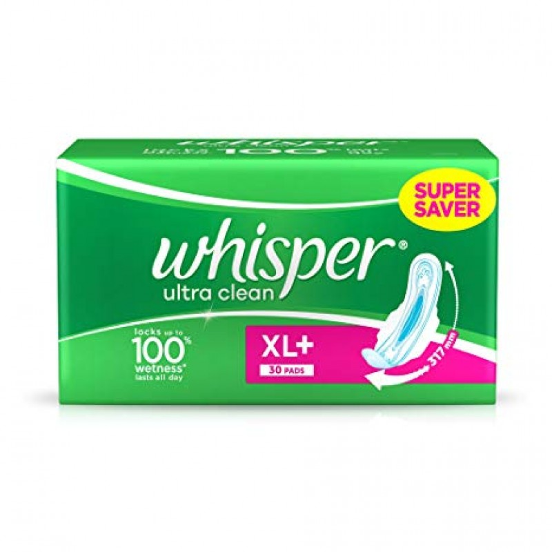 WHISPER ULTRA CLEAN XL 30 PADS