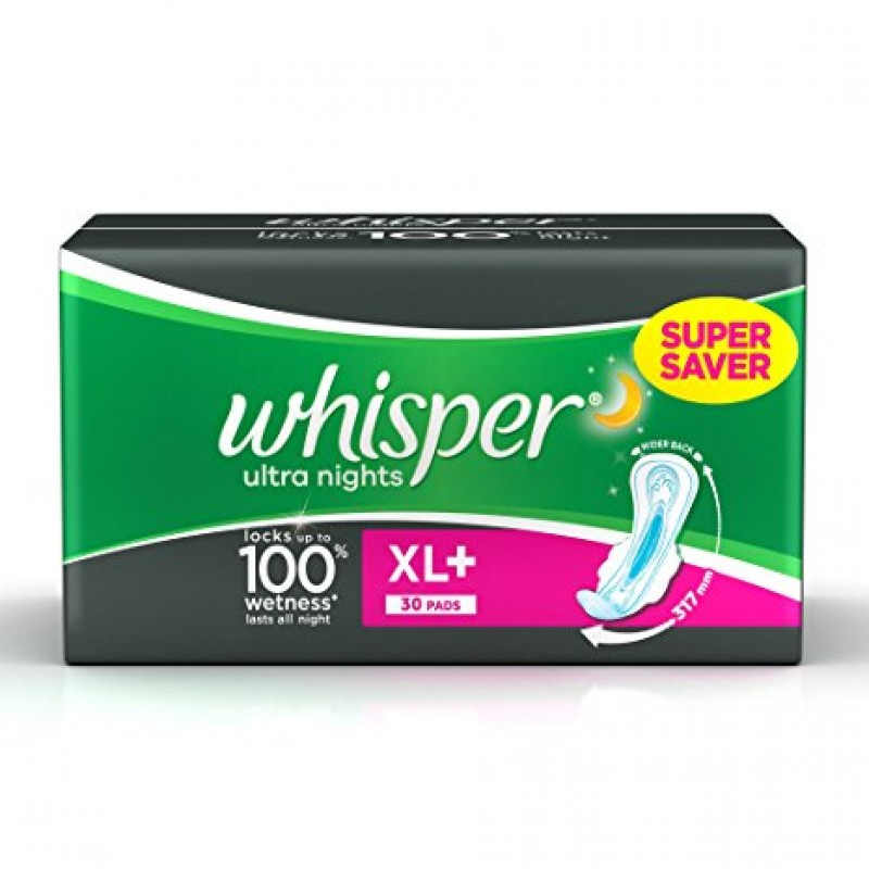 WHISPER ULTRA NIGHTS XL+  30 PADS
