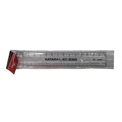 NATARAJ 621 TRANSPARENT 15CM SCALE