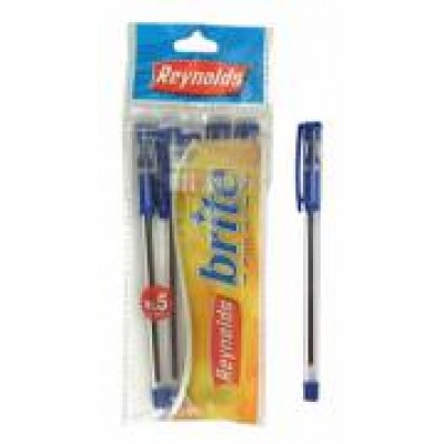 REYNOLDS BRITE BLUE PEN (PACK OF 5)
