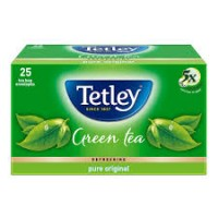 TETLEY  GREEN TEA REFRESHING PURE ORIGINAL 25 BAGS ENVELOPES