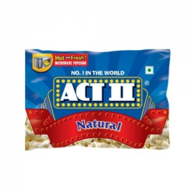 ACT 2 NATURAL MICROWAVE POPCORN 99G