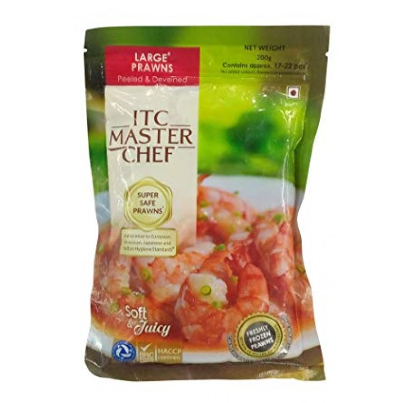 ITC MASTER CHEF LARGE PRAWNS 200G