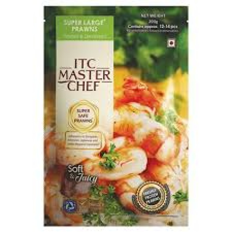 ITC MASTER CHEF SUPER LARGE PRAWNS 200G