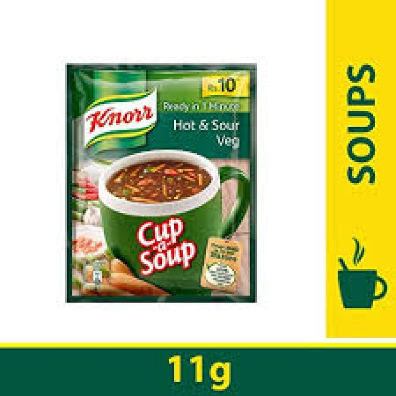 KNORR CUP A SOUP HOT AND SOUR VEG 11G