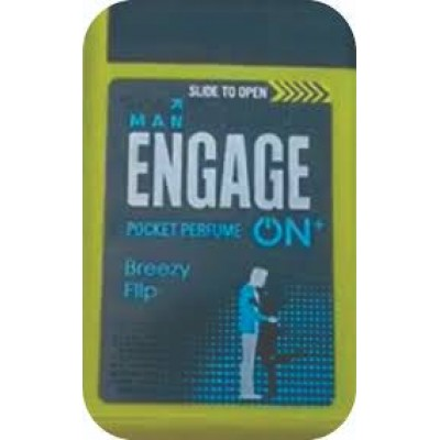 ENGAGE ON PLUS breezy flip POCKET PERFUME FOR MEN- 18ML