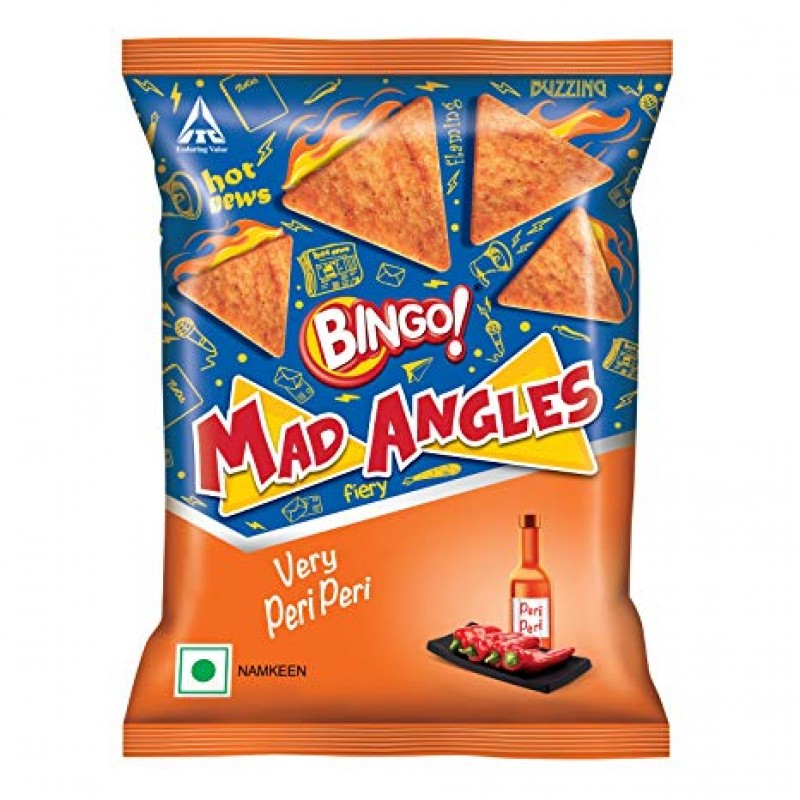 BINGO MAD ANGLES VERY PERI PERI 80G