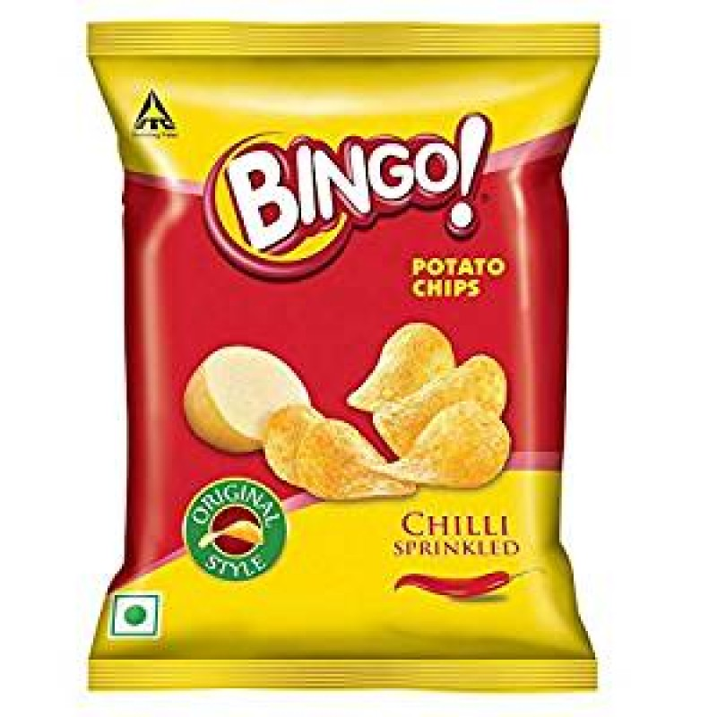 BINGO POTATO CHIPS CHILLI SPRINKLED 130G