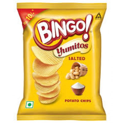 BINGO POTATO CHIPS SALTED 25G