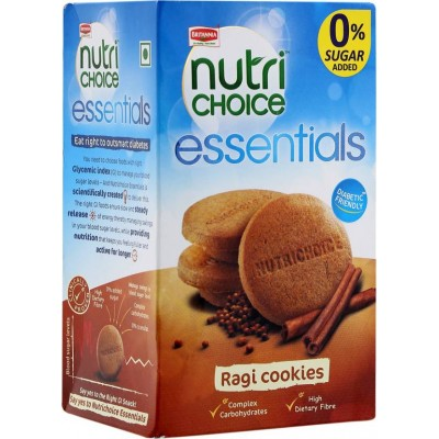 BRITANNIA NUTRI CHOICE ESSENTIALS RAGI COOKIES 150G