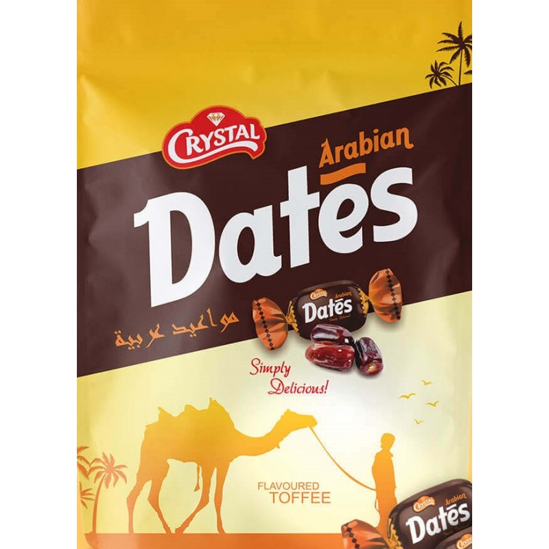 CRYSTAL ARABIAN DATES FLAVOURED TOFFEE 350G