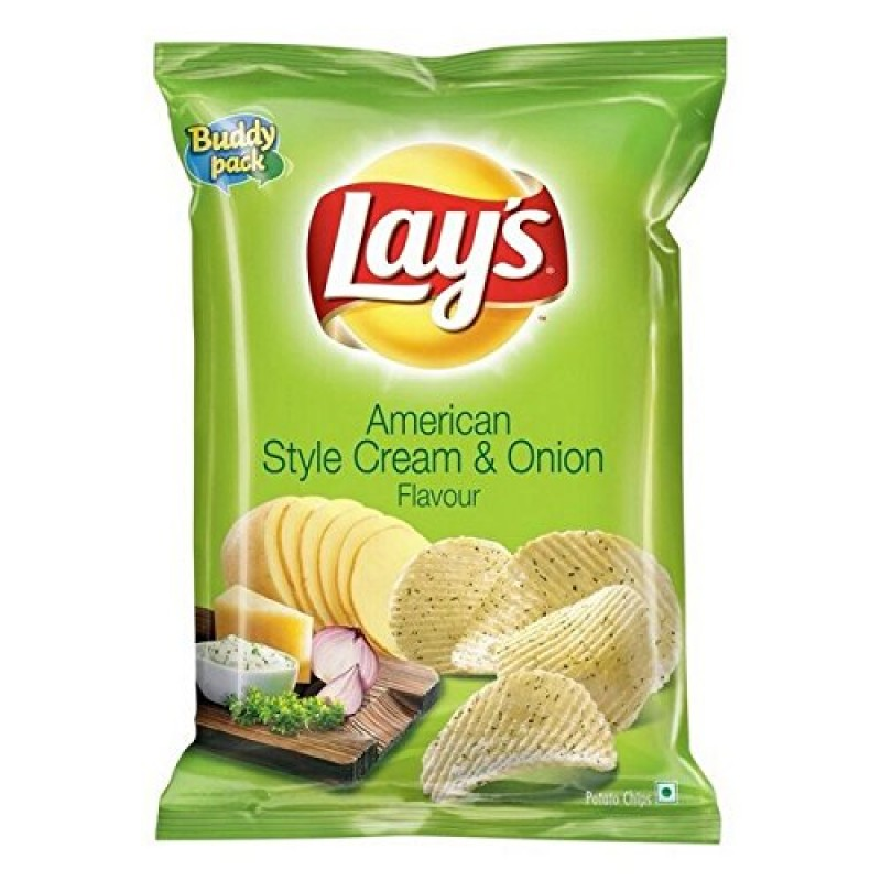 LAYS AMERICAN STYLE CREAM AND ONION FLAVOUR 90G