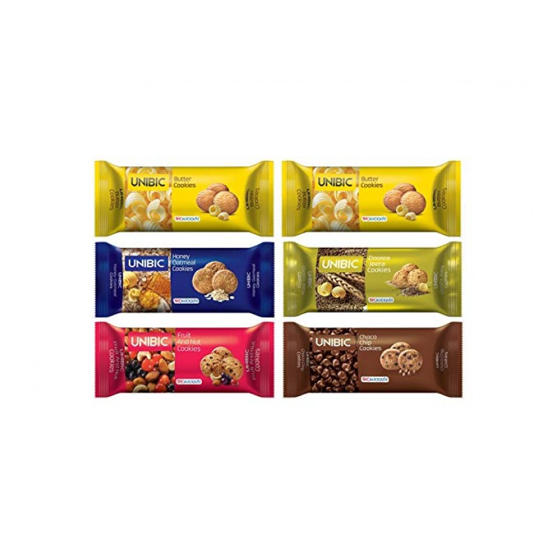 UNIBIC ASSORTED COOKIES 450G (PACK OF 6)