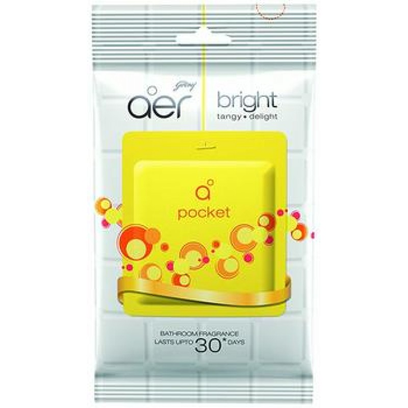 GODREJ AER POCKET BRIGHT BATHROOM FRAGRANCE 10G