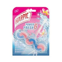 HARPIC POWER FRESH6 TOILET RIM BLOCK FLORAL 39G