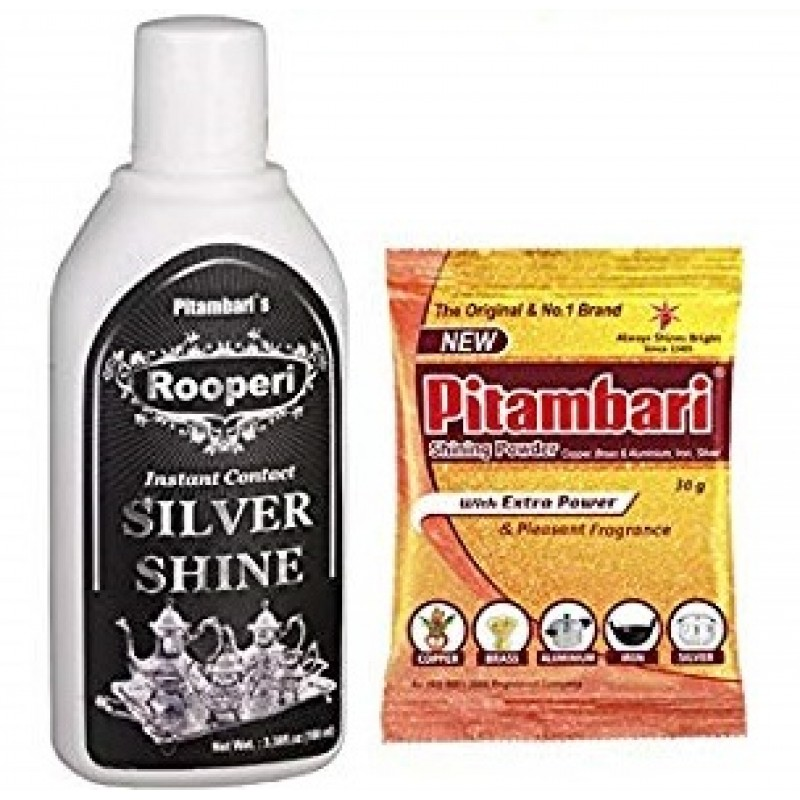 PITAMBARI SHINING POWDER 30G + PITAMBARI INSTANT CONTACT SILVER SHINE 50ML