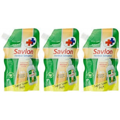 Savlon Herbal Sensitive Handwash Liquid 185mlx3