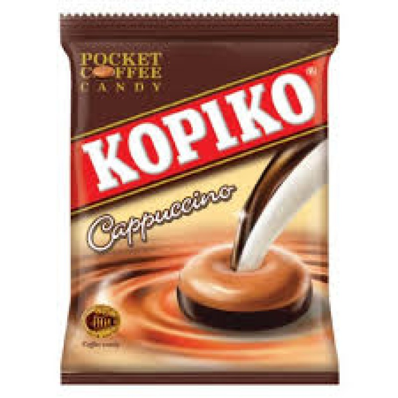 KOPIKO CAPPUCCINO POCKET COFFEE 100G (PACK OF 27)